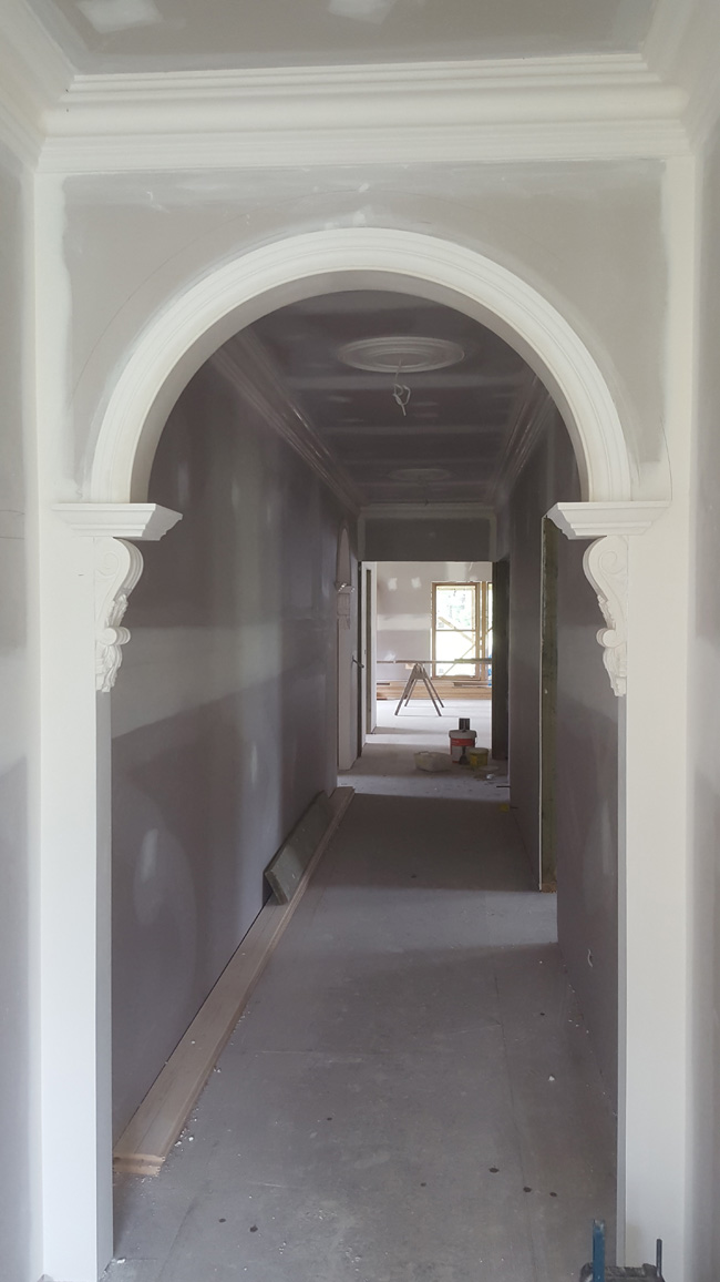 Heritage archway at a reproduction period home in Healesville