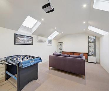 Plaster attic ceiling